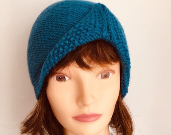 Womens beanie.In many colours. Hand knitted ladies hat Soft and comfortable beanie for women perfect for colder seasons