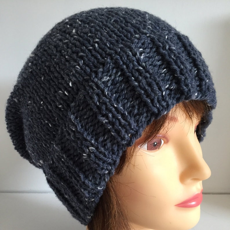1be772543d3 Unisex Hats Knitted Hats Slouchy Beanie Hat Airforce Blue