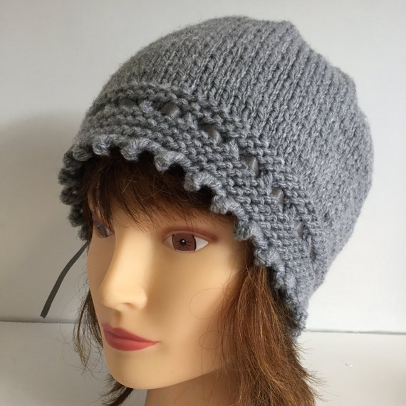 Womens Beanie Hats Grey Hat 1920s Hat Vintage Style Hat  246ba923f