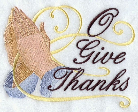 O GIVE THANKS  embroidery SWT153W on  Sweatshirt by St. Clair Vestments