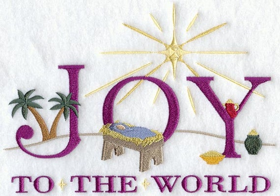 JOY to the WORLD embroidery on Sweatshirt by St. Clair Vestments