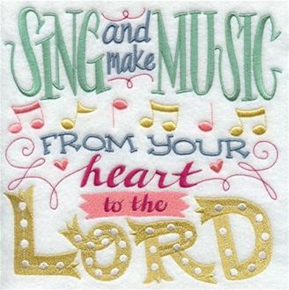 SING MUSIC  embroidery SWT153W on  Tee or Sweatshirt by St. Clair Vestments