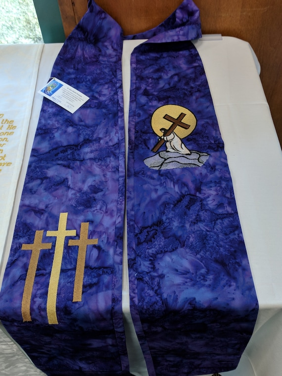 LENTEN STOLE  #534 LT by Rosemary St. Clair
