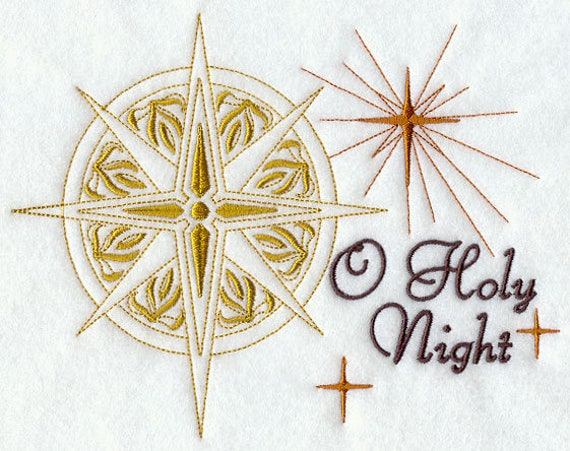 O HOLY NIGHT embroidery on  Sweatshirt by St. Clair Vestments