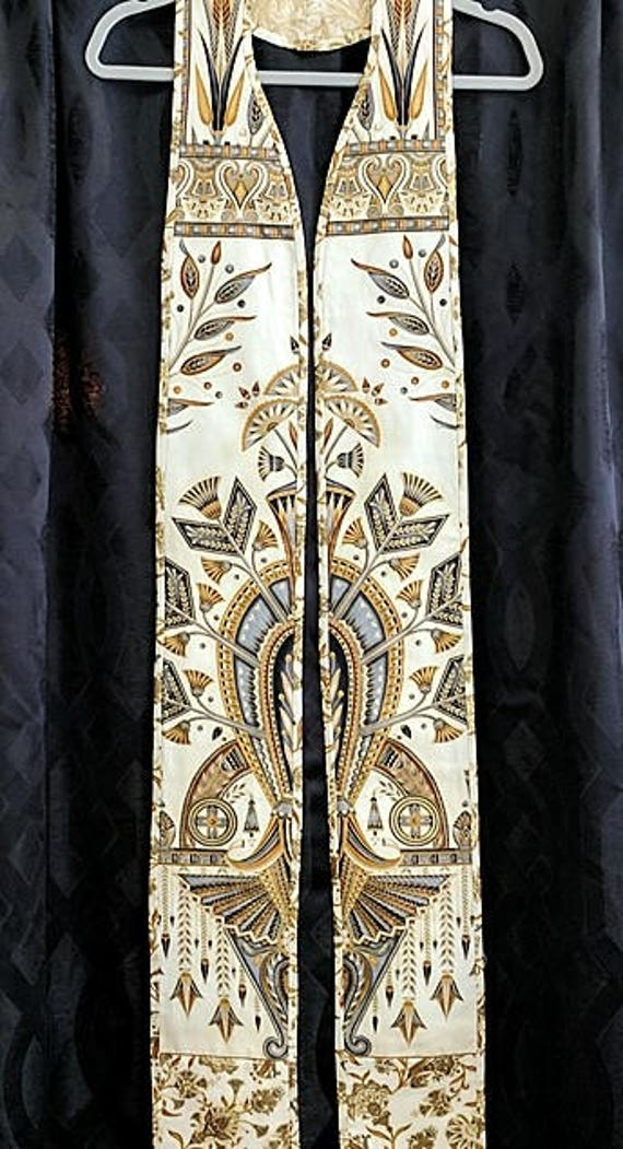 GOLD Art Deco REVERSIBLE GOLD Stole #175 R by Rosemary St. Clair