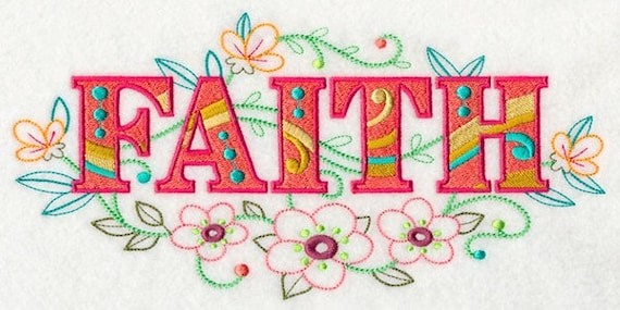 FAITH EMBROIDERY on   Sweatshirt by St. Clair Vestments