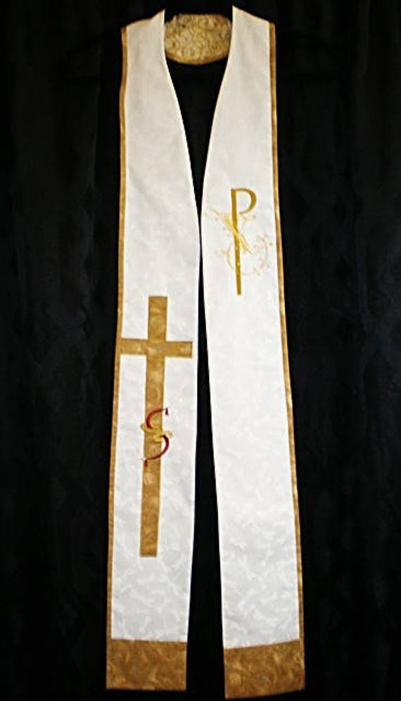 Reversible WEDDING/TRINITY Stole #401R by Rosemary St. Clair