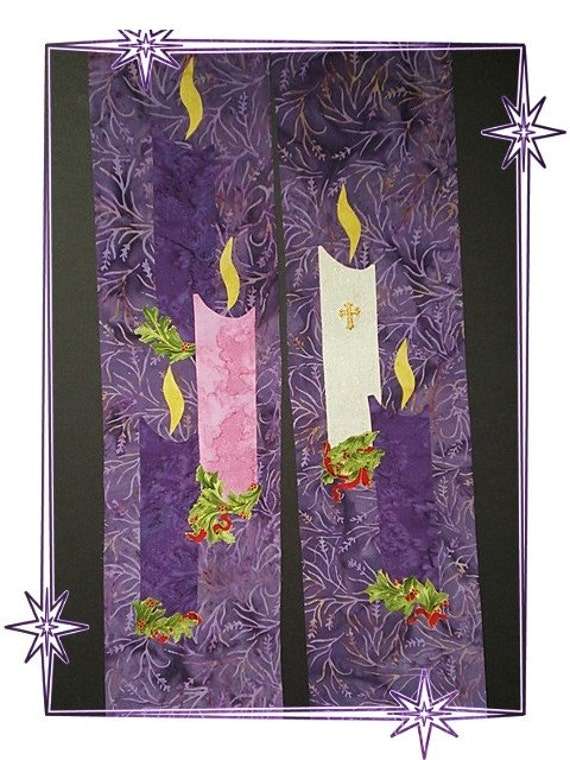 Purple Reversible  LENT/ADVENT Stole  #659R by Rosemary St. Clair