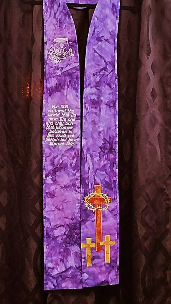 LENTEN STOLE  #545 LT by Rosemary St. Clair