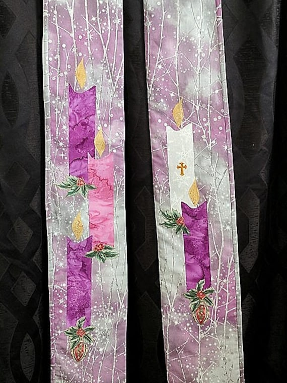 ADVENT/LENT Reversible Stole #632R by Rosemary St. Clair