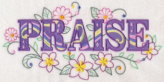 PRAISE EMBROIDERY on  Sweatshirt by St. Clair Vestments
