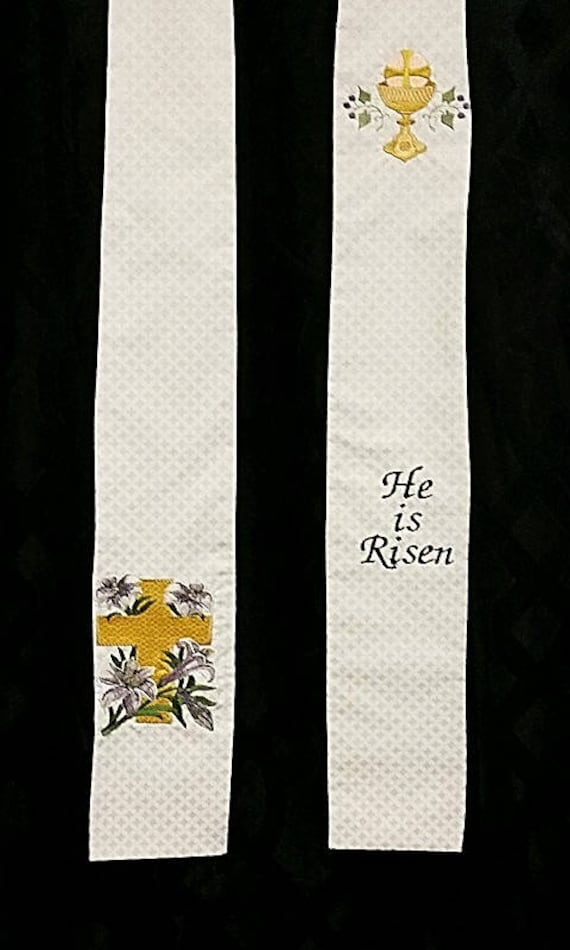 EASTER CROSS Stole #544 by Rosemary St. Clair