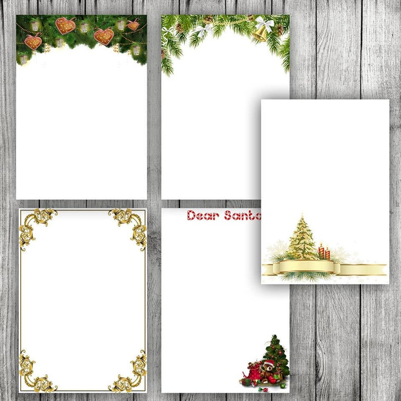 photograph regarding Printable Christmas Letter Paper called Printable Stationery paper printable Xmas paper stationary Electronic obtain Printable paper Xmas letter record А4 decoration