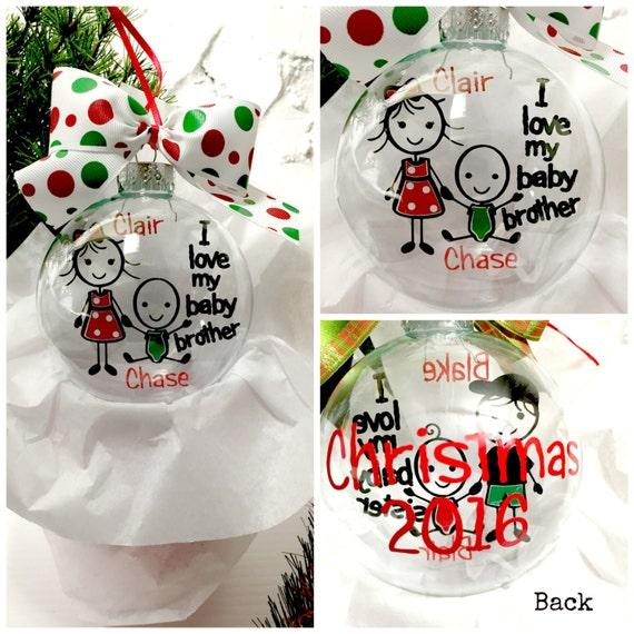 Big Sister Little Sister Ornament;  Sibling Ornament; Custom Ornament; Personalized Ornament; Floating Ornament
