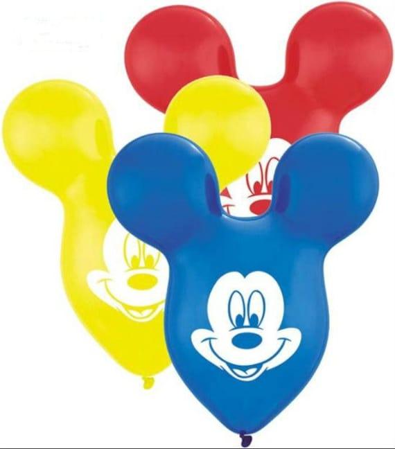 Mickey Mouse Ears Balloon ~ Custom Mickey Mouse Balloon ~ Mickey Mouse Party Decor ~Latex Mickey Mouse Balloons