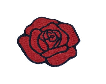 Rose patch vans | Etsy