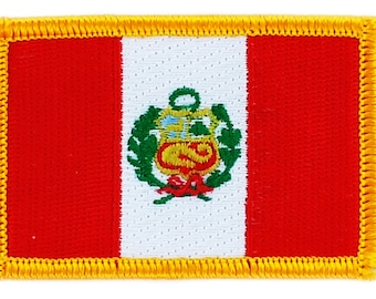 Peru South America Flag Embroidered Patches