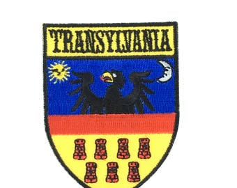 Patch flag coat of arms shield emblem country embroidered badge transylvania