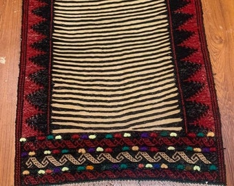 Fine Gorgeous Afghan Sofreh Vintage Kilim Runner 130 x 55 CM Geometric Dastrkhan Kilim Sufreh Armenian Kilim Vintage Kuchi Rug Runner