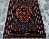 Super Fine Handmade Afghan Turkoman Medallion Ala Makhmal Wool Carpet 3 39 2 x 5 39 1 Ft, Vintage Turkoman Best Tribal Decor Makhmal Rug