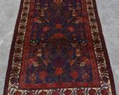 LA128, Gorgeous Afghan Handmade Vintage Taimani Tree Of Life Naqsha Baluch Rug 4 39 x 6 39 1 Ft