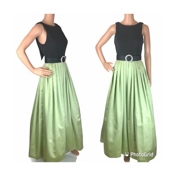 Cache Green And Black Dress Ballgown XS-SM