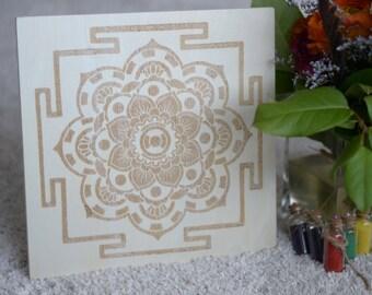 Sand Mandala Design Art Board - decorative mandala design board