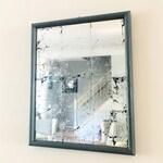Rectangular Mirror, Vintage Frame, Gilded Glass, Wall Decor, Silver Leaf, Wall Mirror, Distressed Mirror, Teen Bedroom Decor, Mirror