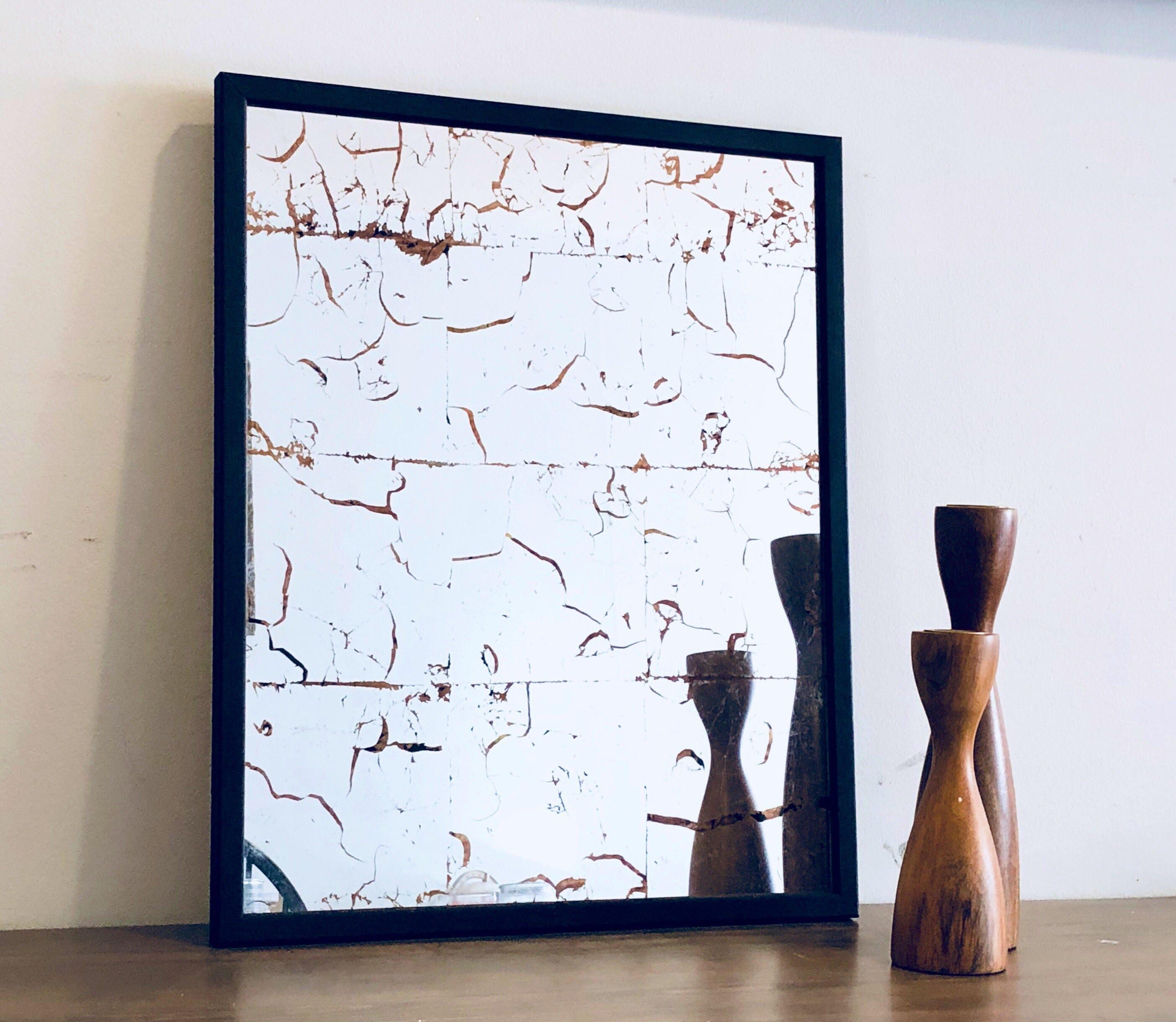 Wandspiegel beunruhigt Spiegel Verre Eglomise vergoldeter | Etsy