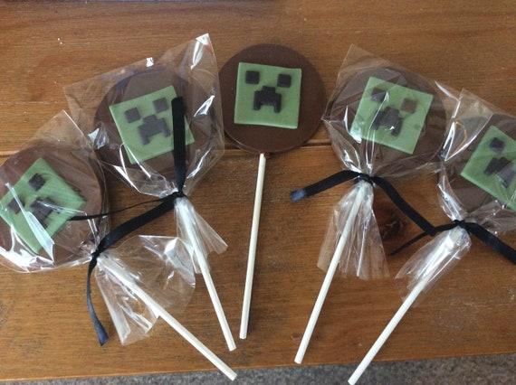 Minecraft chocolate Large lollipop
