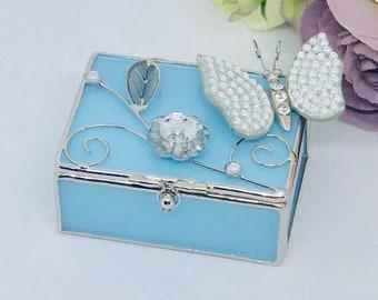 Ring Box, Page Boy Ring Box, Ring Bearer Box, Bridal Ring Box, Wedding Ring Box, Glass Ring Box - BEAU