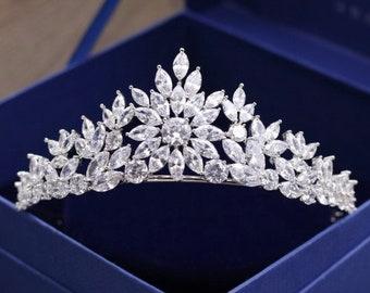 DEIDRE - Silver Wedding Bridal Tiara