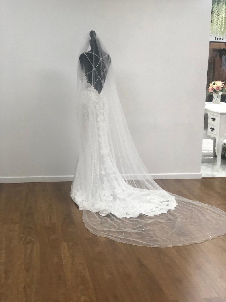 Wedding veil Ivory Veil Bridal Veil BIANCA 1 Tier Veil Cathedral Veil Veil Ivory Bridal Veil