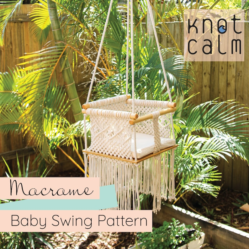 PATTERN Macrame Baby Swing DIY Instant Download Step by Step image 0