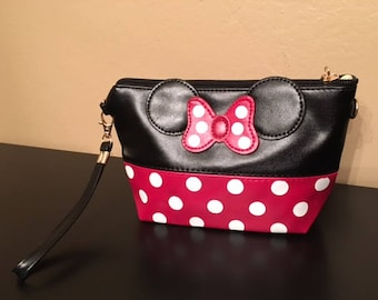 695d45f4fc Personalized Minnie Mouse Makeup Clutch Bag - Great for Fish Extender  Gifts~!