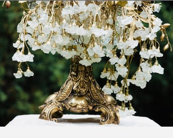 Sofreh Aghd White Nabat Branch in Gold or Silver For Persian Wedding Aroosi