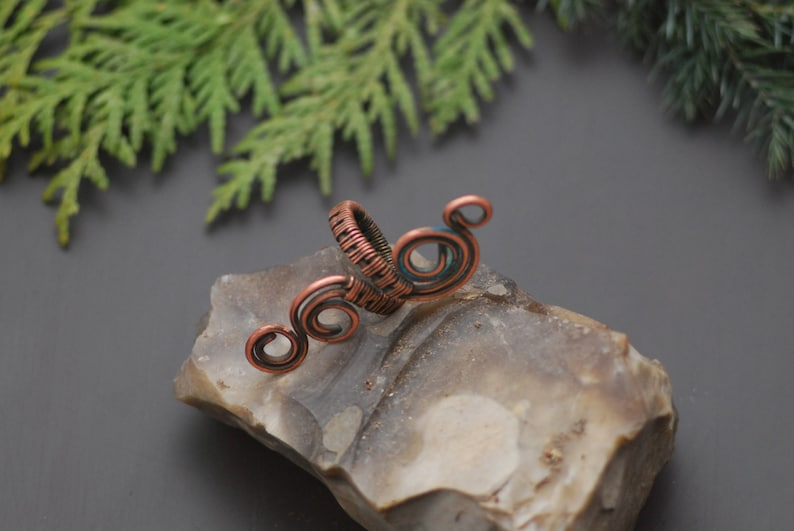 Spiral copper ring Wire ring jewelry Handmade Copper Ring Wire wrapped copper ring Wire wrapped ring handmade Copper jewelry Wire wrapped