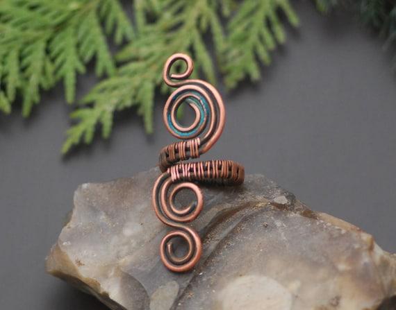 Spirale Kupfer Ring Wire Ring Schmuck handgefertigt Ring
