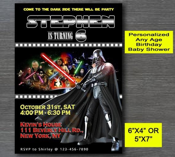 Star Wars Invitation Darth Vadar InviteStar