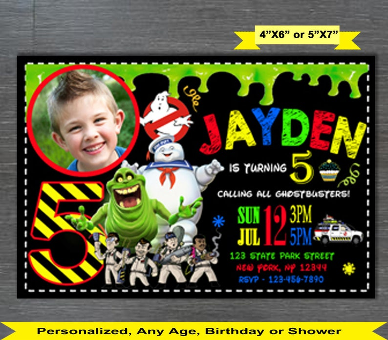 Ghostbusters Invitation Ghostbusters Birthday Etsy
