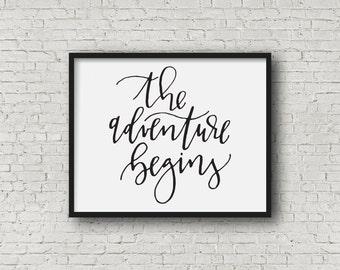 Wedding Gift - The Adventure Begins Digital Print