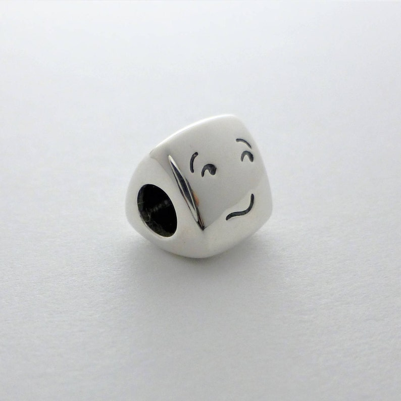 504d672d2c846 Emoji Charm Bead, Silver Spacer Emoticon Bead, Smiley Face Bead Sterling  Silver, Emoji fits Soufeel, Pandora, Chamilia Bracelets and Bangles