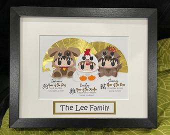 Custom Zodiac Family Picture Frame