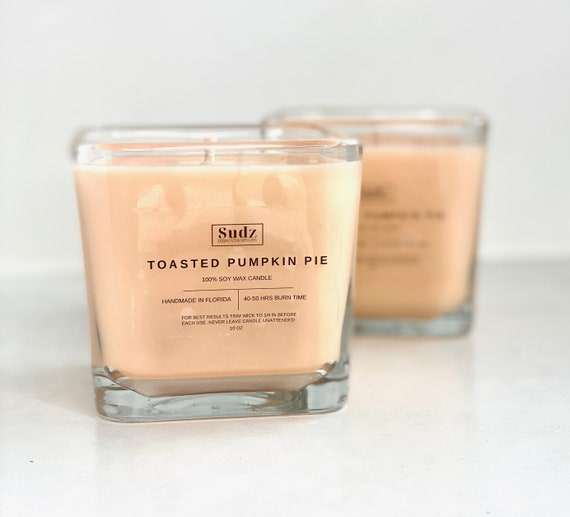 Toasted Pumpkin Pie Soy Wax Candle - 10oz - Fall Candle - Halloween Candle - Thanksgiving Candle - Handmade Candle - Fall Scents