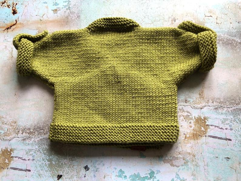 optional Beautiful handmade gift! 6-9 months Custom Made to Order- Merino Wool Baby Cardigan with Matching Headband for Mum