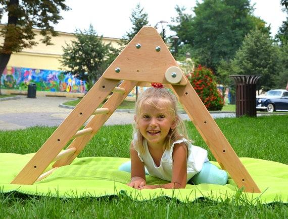 Kletter Dreieck Baby : Hölzerne pikler dreieck kleinkind bergsteiger pickler etsy