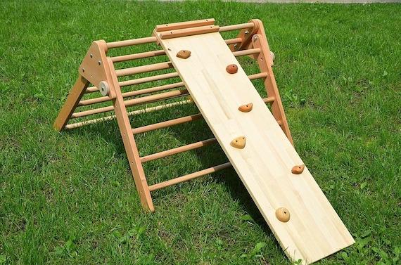 Kletter Dreieck Baby : Klettern rampe holz double sided felswand für pikler dreieck