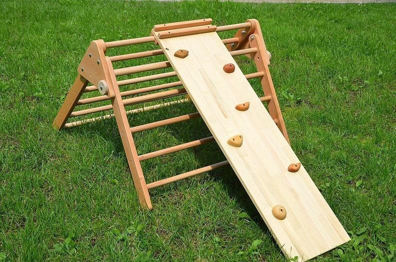 Klettergerüst Baby Holz : Klettern rampe holz double sided felswand für pikler dreieck etsy