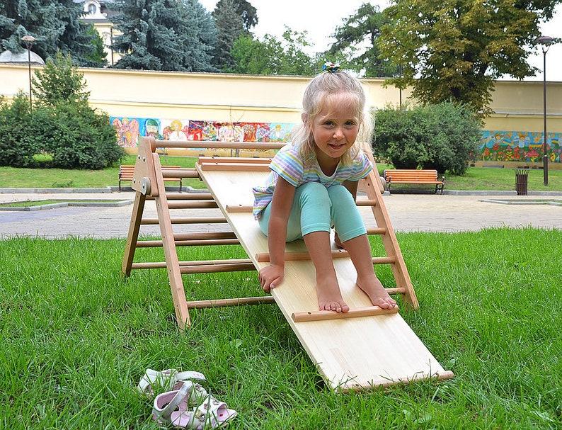 Kleinkind Klettert Dreieck : Pikler rampe holz dreieck und doppelseitige klettern etsy