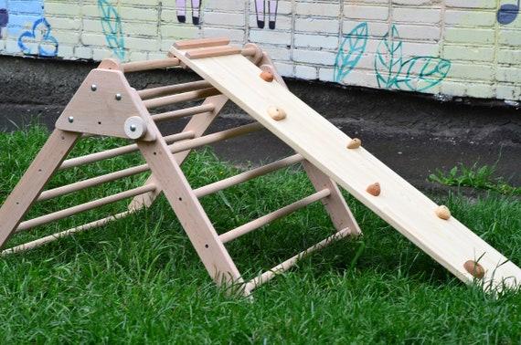 Kletter Dreieck Baby : Pikler rampe holz dreieck und doppelseitige klettern